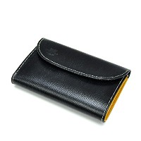Whitehouse Cox / ホワイトハウスコックス 【Holiday Line】 S-7660 3Fold Purse Black Regent×Yellow