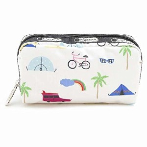 レスポートサック ポーチ LESPORTSAC Rectangular Cosmetic 6511 D836 Roadtrip Vaca Cream 並行輸入品
