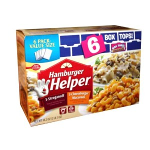 Betty Crocker Hamburger Helper 3-Stroganoff, 3-Cheeseburger Macaroni  ハンバーガーヘルパー 6箱セット 〔アメリカ直送〕