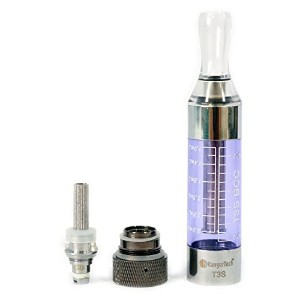 KangerTech T3S BCC eGo 3ml ボトムコイル交換型 クリアカトマイザー clearomizer (5個入) 透明 1.8オーム
