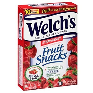 イチゴフルーツスナックゼリー 10ct-Welch's Strawberry Fruit Snack Jelly/Fat-free/Well-being [並行輸入品]