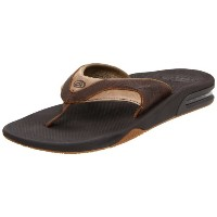 REEF LEATHER FANNING FLIP-FLOP