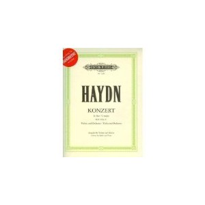Haydn, Franz Joseph - Concerto No. 2 in G Major, Hob. VIIa:4 - Violin and Piano Book/CD set Peters