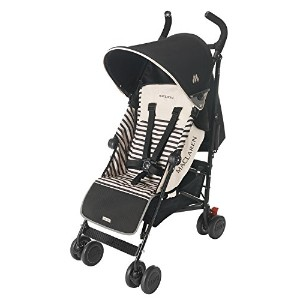Maclaren Quest Stroller, Railroad Stripe Black/Sand by Maclaren