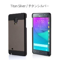 Galaxy Note Edge ケース カバー【motomo 正規品】INO METAL Galaxy Note Edge (Galaxy Note Edge, チタンシルバー)