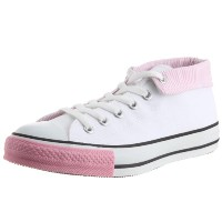 [コンバース] CONVERSE AS TURNDOWN W OX AS TURNDOWN W (ホワイト/ピンク/4.5)