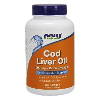 海外直送品Cod Liver Oil, 1000 mg, 180 SoftGels by Now Foods