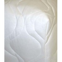SheetWorld Fitted Oval Crib (Stokke Sleepi) Sheet - White Quilted - Solid Colors by sheetworld