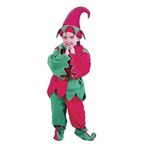 Fun World Costumes Baby Girl's Child Elf Costume, Red/Green, Small by Fun World