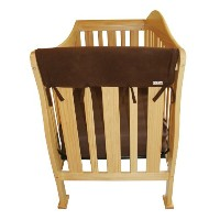Trend Lab Fleece CribWrap Rail Covers for Crib Sides (Set of 2), Brown, Wide for Crib Rails...