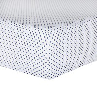 Tadpoles Crib Fitted Sheet, Mini Polka Dot/Navy by Tadpoles
