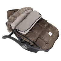 7AM Enfant Le Sac Igloo Footmuff, Converts into a Single Panel Stroller and Car Seat Cover - Caf?,...