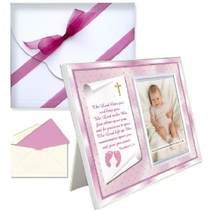 Baptism Christening Gifts Baby Blessing Picture Frame -- Numbers 6:24-26 - Girl by Expressly Yours!...