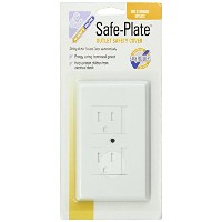Mommys Helper Safe Plate Electrical Outlet Covers Standard, White by Mommy's Helper