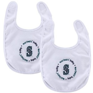 Baby Fanatic Team Color Bibs, Seattle Mariners, 2-Count by Baby Fanatic