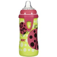 NUK BPA Free Active Cup With Clip 10 Oz - Asst. Girl Colors by NUK