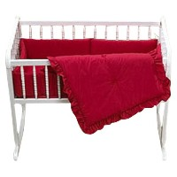 Baby Doll Bedding Solid Cradle Set, Red by BabyDoll Bedding