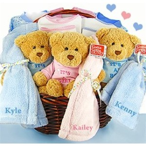 Triplets Gift Basket by Baby Gift Basket