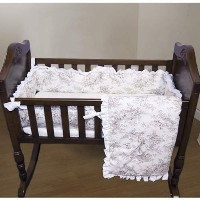 Baby Doll Bedding Toile Deluxe Cradle Set, Bone by BabyDoll Bedding