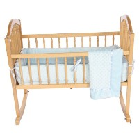 Baby Doll Bedding Heavenly Soft Cradle Set, Blue by BabyDoll Bedding
