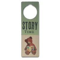 Tree By Kerri Lee Wooden Doorknob Sign, Story Time by Tree by Kerri Lee
