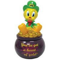 Looney Tunes You've Got A Heart of Gold Trinket Box by Westland Giftware [並行輸入品]