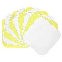 Planet Wise Flannel Wipes, Butter/White by Planet Wise