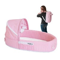 LulyBoo Travel Infant Bed - On The Go Baby Lounger Backpack - Combines Crib, Playpen And Changing...