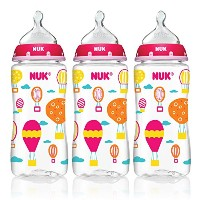 NUK Trendline Baby Talk Bottles Girls Color Silicone by NUK