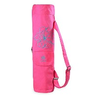 【Gaiam】Full-Zip Cargo Pocket Yoga Mat Bags ガイアム ヨガバッグ マットバッグ (Flower Burst)