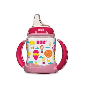 NUK Learner Cup Silicone Bundle Pack, Girl, 5 Ounce, 2 Count 取っ手付き 哺乳瓶 150ml お得な2本セット ガール