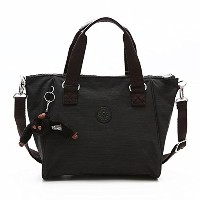 KIPLING(キプリング) ハンドバッグ AMIEL BK K16616 MEDIUM HANDBAG WITH REMOVABLE SHOULDERSTRAP DAZZ BLACK [並行輸入品]