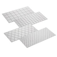 Cake Boss Decorating Tools 4-Piece Quilted Fondant Imprint Mat Set, Clear by Cake Boss