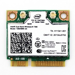 Intel Dual Band Wireless-N 7260 7260HMW AN 802.11a/b/g/n、デュアルバンド、2x2 対応 Wi-Fi + Bluetooth 4.0...