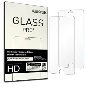 iPhone 7 Plus Screen Protector, ARKTeK® 0.26mm Super Thin 2.5D Rounded Edges Premium Tempered Glass...