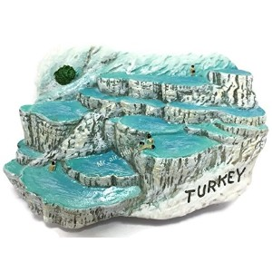 Turkey Pamukkale Hot Springs Turkish Souvenir Collection 3D Fridge Refrigerator Magnet Hand Made...
