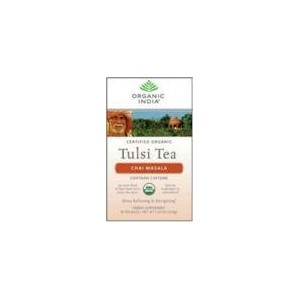 海外直送品Organic India Organic Tulasi Tea Chai Masala, Chai Masala 18 ct (Pack of 5)