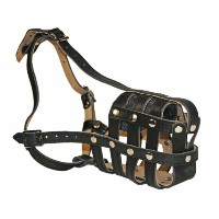 Dean & Tyler Royal Basket Leather Muzzle,ジャーマンシェパード