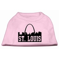 Mirage Pet Products 51-74 MDLPK St Louis Skyline Screen Print Shirt Light Pink Med - 12