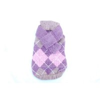 Anima Pink Knit Argyle Seater with Matching 14-Inch Scarf, Small by Anima
