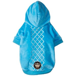Dogs of Glamour DG00036PC-SM Argyle Hoodie, Peacock, Small