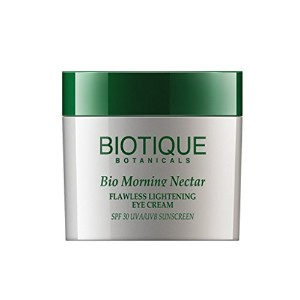 Biotique Flawless Lightening Eye Cream SPF 30 - Morning Nectar 25g
