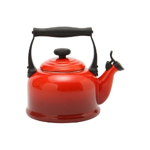 【Le Creuset ル・クルーゼ】ルクルーゼ ケトル/やかん Traditional Whistling Kettle チェリーレッド920008-00 [並行輸入品]