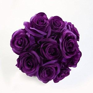 Luyue【 バラ 造花 10本 セット 】 薔薇 花束 結婚式 パーティーグッズ イベント 誕生日 プレゼント ギフト 贈り物