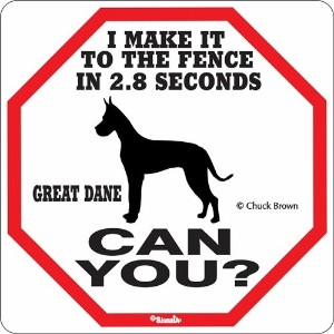 I MAKE IT TO THE FENCE IN 2.8 SECONDS GREAT DANE CAN YOU?サインボード:グレートデーン [並行輸入品]