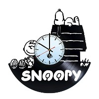 スヌーピー ビニールレコード 壁時計 Snoopy Woodstock Vinyl Record Wall Clock - Get unique living room wall decor -...