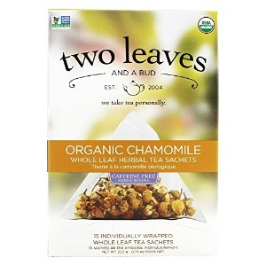 Two Leaves and a Bud, Organic Chamomile Herbal Tea, Caffeine Free, 15 Sachets, 0.79 oz (22.5 g)