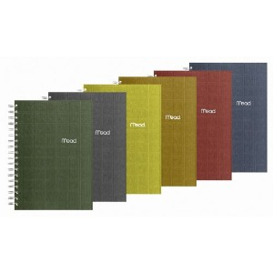 Recycled Notebook, 6 X 9 1/2, 138 Sheets, College Ruled, Perforated, Assorted (並行輸入品)