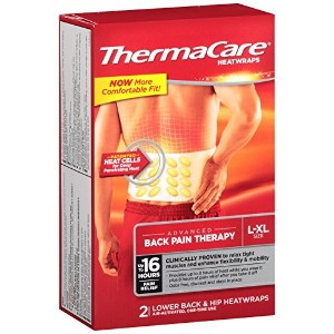 ThermaCare Lower Back & Hip Pain Therapy Heatwraps, L-XL Size (2-Count, Pack of 3) by ThermaCare