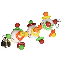 Paradise 3D Triple Ball with Bell Chew Toy, 3 by 8-Inch [並行輸入品]